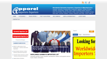 How do you get garment importers list worldwide?