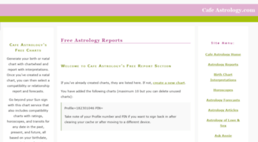 Cafe Astrology's Free Charts