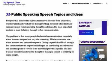 interesting topics for public speaking class