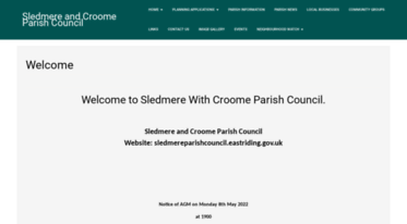 sledmereparishcouncil.eastriding.gov.uk