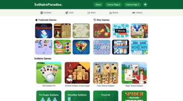 Solitaire Paradise - The Best Selection of Free Card Games and ...