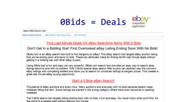 Get 0bids Com News 0 Bids Ebay Search Tool