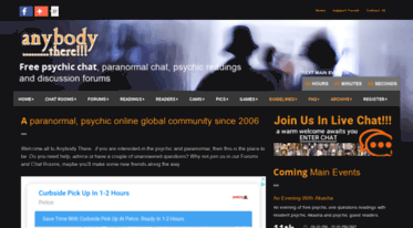 Get Anybodythere net news - Free Psychic Chat Online