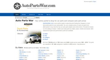 Get Autopartswar com news - Auto Parts War - Find discount auto car