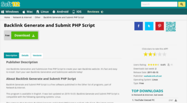 Get Backlink-generate-and-submit-php-script soft112 com news