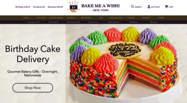 Bake Me A Wish Gourmet Cakes And Bakery Gifts Are Delivered Overnight Nationwide All Of Our Can Be Sent For