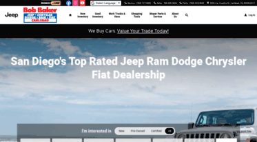 San Diego Jeep Dealers >> Get Bobbakerchryslerjeep Net News New And Used Jeep Ram