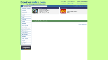 Get Bookiesindex bestbetting com news - Bookmakers Odds Comparison