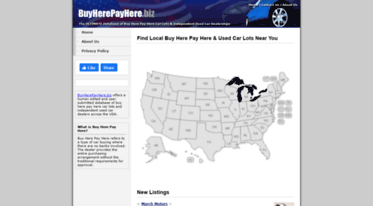 Local Buy Here Pay Here >> Get Buyherepayhere Biz News Buy Here Pay Here Car Lots
