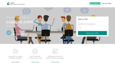 Get Cuponz com news - Cuponz com domain name is for sale