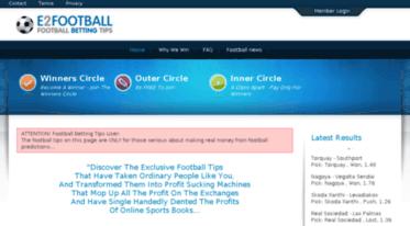 Get E2football com news - Soccer Picks, Predictions, Systems