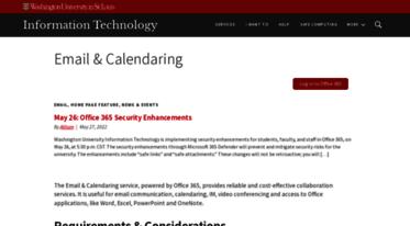 Get Email wustl edu news - Email & Calendaring | Information