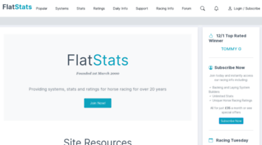 Get Flatstats co uk news - FlatStats - Horse Racing Systems