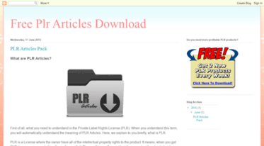 download plr articles free
