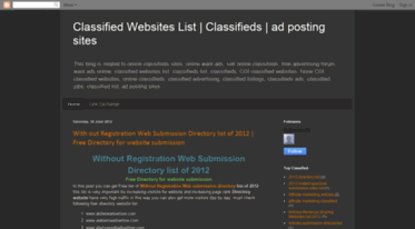 Get Freeadspostingwebsites blogspot com news - Classified