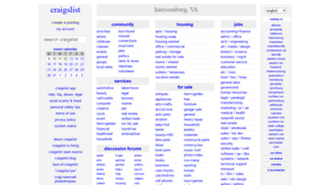Get Harrisonburg Craigslist Org News Craigslist Harrisonburg Va