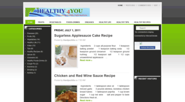 From Red Wine Applesauce Health And >> Get Healthy 4you Blogspot Com News Healthy 4you