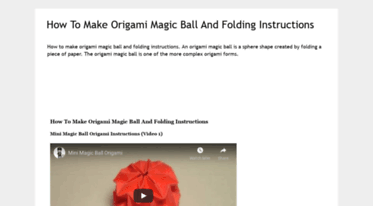 Origami MAGIC BALL - with zig zag pattern (Raman) | Origami ball ... | 206x373