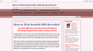 Get Howtowinscratchoffs blogspot com news - How to Win Scratch offs