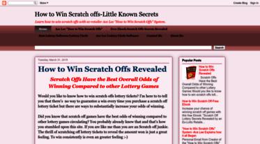 Get Howtowinscratchoffs blogspot com news - How to Win Scratch offs