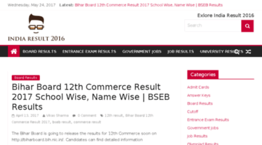 Get Indiaresult2016 in news - India Result 2018: Check All