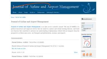 Get Jairm org news - Journal of Airline and Airport Management