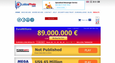 Get Lottosphoto com news - Spanish Lottery and EuroMillions