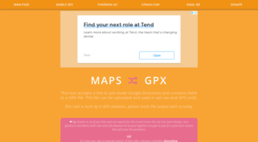 Get Mapstogpx com news - Maps to GPX