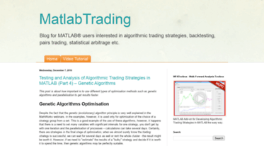 Get Matlab-trading blogspot com news - MatlabTrading