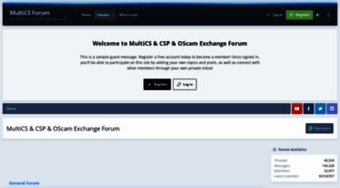 Get Multics info news - MultiCS & CSP & OScam Exchange Forum