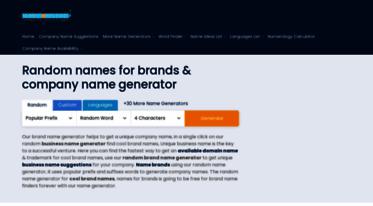 Get Names4brands com news - Random Brand Name Generator, Creative