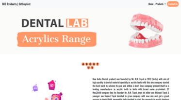 Get Nidproducts com news - NID Products - Denture Material