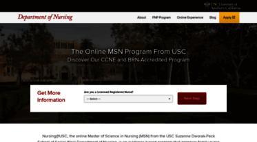 Online Nursing Programs >> Get Nursing Usc Edu News Graduate Nursing Programs Online