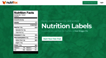 get nutrifox com news nutrifox easy to create nutrition labels