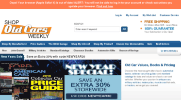 Old Car Values >> Get Oldcarsbookstore Com News Old Collector Classic Car