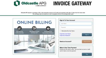 Get Oldcastleapgbilltrustcom News Oldcastle APG Invoice Gateway - Invoice gateway