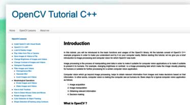 Get Opencv-srf blogspot com news - Introduction - OpenCV