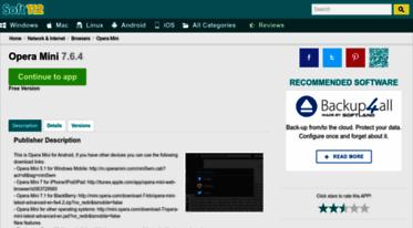 Get Opera-mini soft112 com news - Opera Mini 7 6 4 Free Download