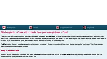 Get Pic2pat com news - Free cross stitch pattern maker