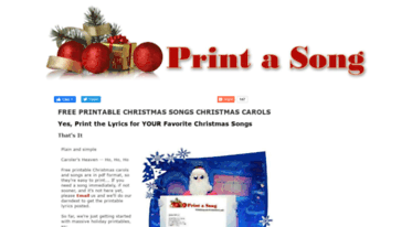 photo relating to Printable Christmas Song Lyrics known as Obtain information - Print a Track - Free of charge Printable