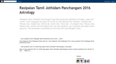 Get Rasipalantamiljothidam blogspot com news - Rasipalan