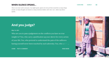 Get Saritahere blogspot com news - When Silence Speaks