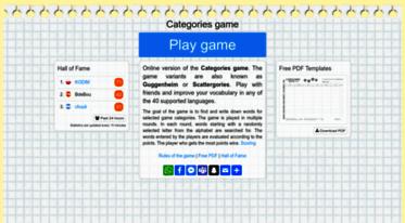 Get Scattergoriesonline Net News Categories Word Game Play Multiplayer Play Free Play Online