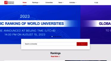 Get Shanghairanking com news - ARWU World University Rankings 2018