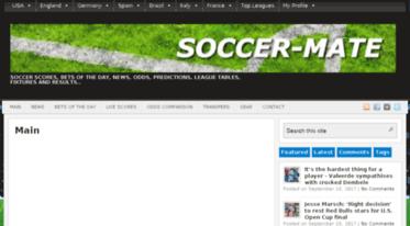 Get Soccer-mate com news - SOCCER-MATE | Soccer live scores