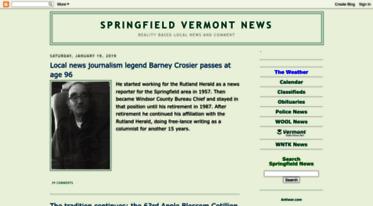 Get Springfieldvt blogspot com news - Springfield Vermont News