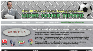 Get Supersoccertipster com news - Super Soccer Tipster