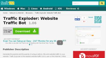 Get Traffic-exploder-website-traffic-bot soft112 com news - Traffic